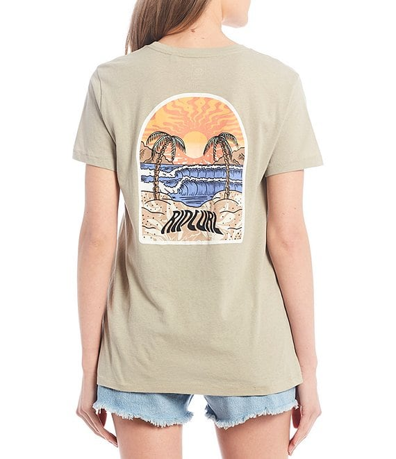 Color:Stone Blue - Image 1 - Ripcurl Sunset Tee