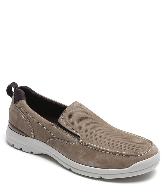 Color:Taupe - Image 1 - Men's City Edge Leather Slip On