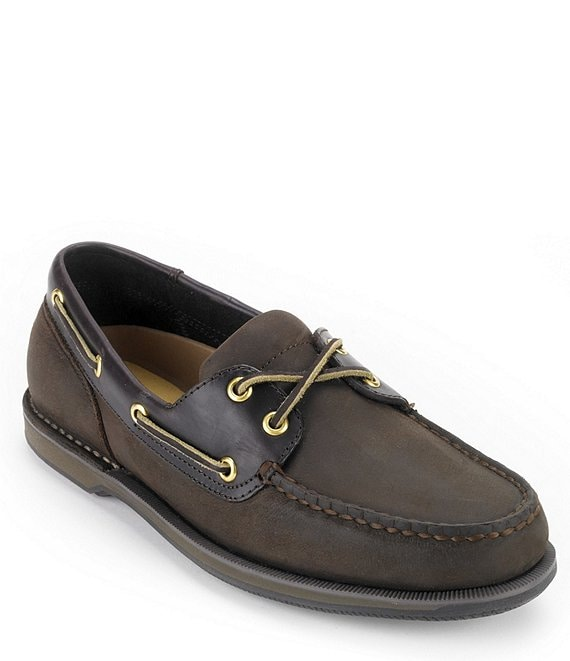 Color:Chocolate/Bark - Image 1 - Men's Perth Casual Boat Shoes