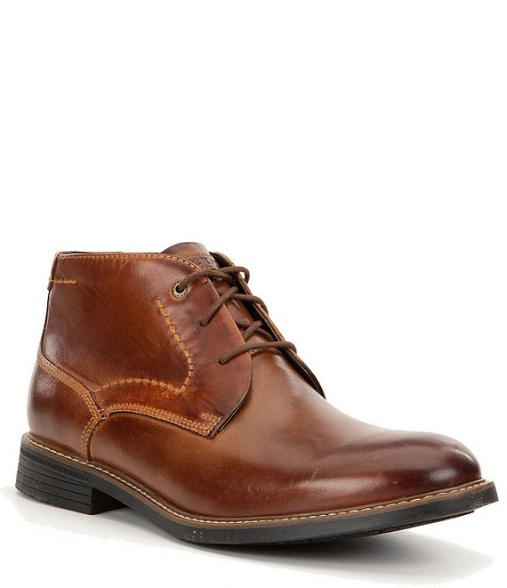 Color:Dark Brown - Image 1 - Men's Tailoring Guide Chukka Boots