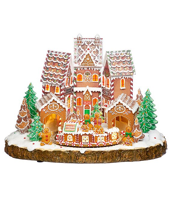Roman Inc. Musical Gingerbread House