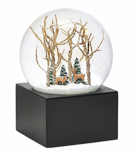 Roman LED Lighted Glittered Tree & Deer Dome