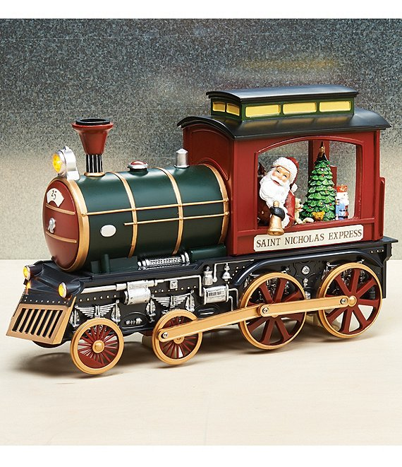 Roman Musical Animated LED Train with Santa Figurine