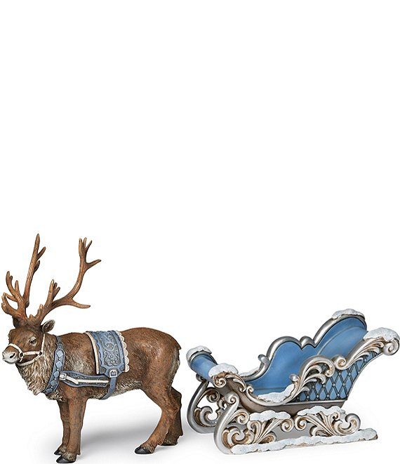 Roman Reindeer and Sleigh Two Piece Set