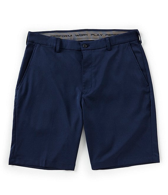 Roundtree & Yorke Active Waist 9#double; Inseam Performance Shorts