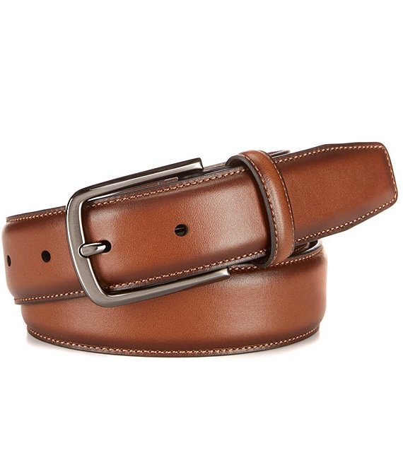 Color:Luggage - Image 1 - Amigo Leather Dress Belt