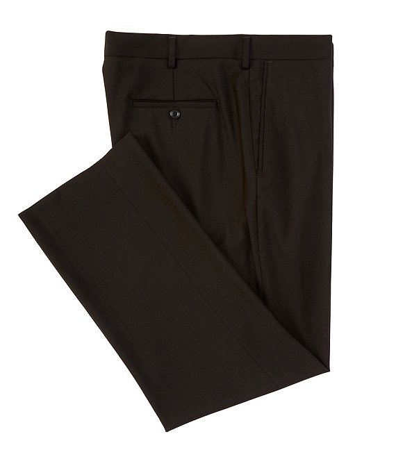 Color:Black - Image 1 - Big & Tall Travel Smart Comfort Classic Fit Flat Front Non-Iron Twill Dress Pants