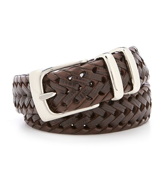 Roundtree & Yorke Braided Double Keeper Leather Belt