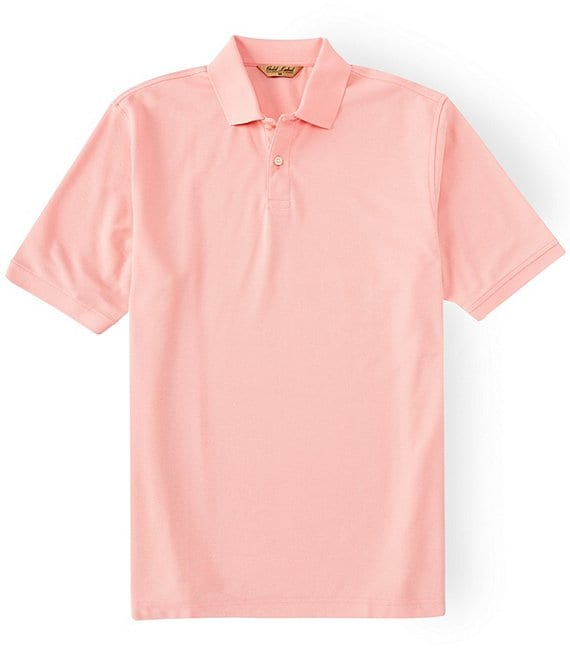 Color:Light Coral - Image 1 - Gold Label Perfect Performance Short-Sleeve Non-Iron Polo