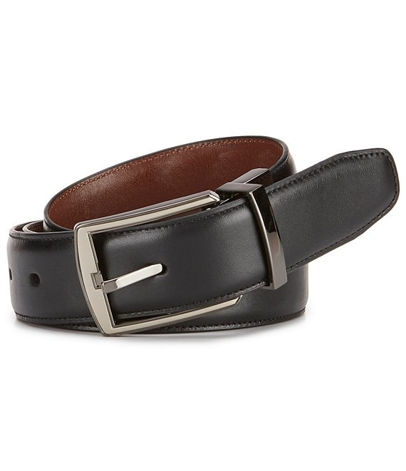 Color:Black - Image 1 - Hi-Lo Reversible Leather Belt