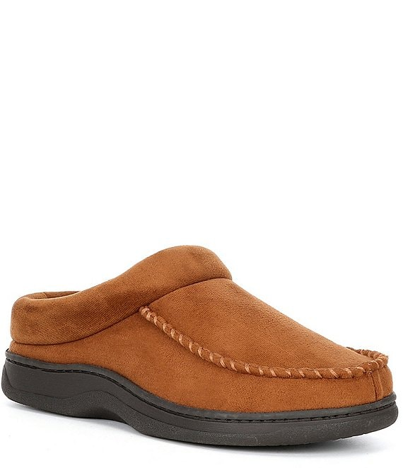 Color:Chestnut - Image 1 - Micro Suede Clog Slippers