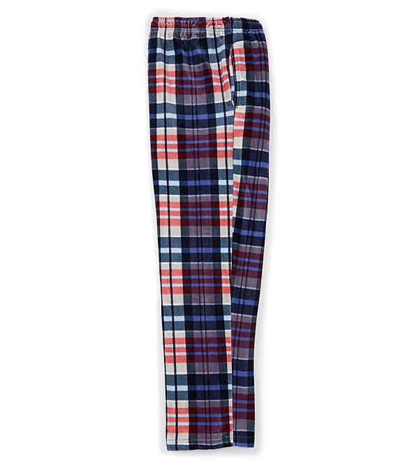 Roundtree & Yorke Plaid Fleece Pajama Pants