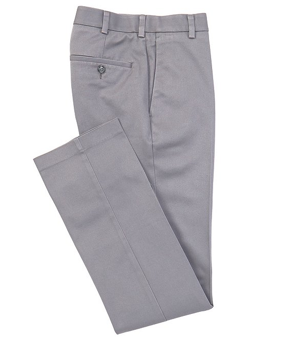 Color:Medium Grey - Image 1 - TravelSmart CoreComfort Flat-Front Straight Fit Chino Pant