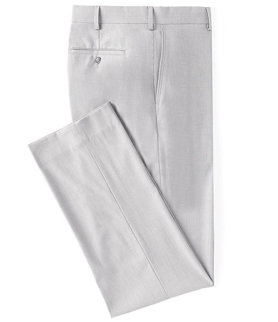 Roundtree & YorkeTravelSmart Ultimate Comfort Easy Care Micro Grid Flat-Front Dress Pants