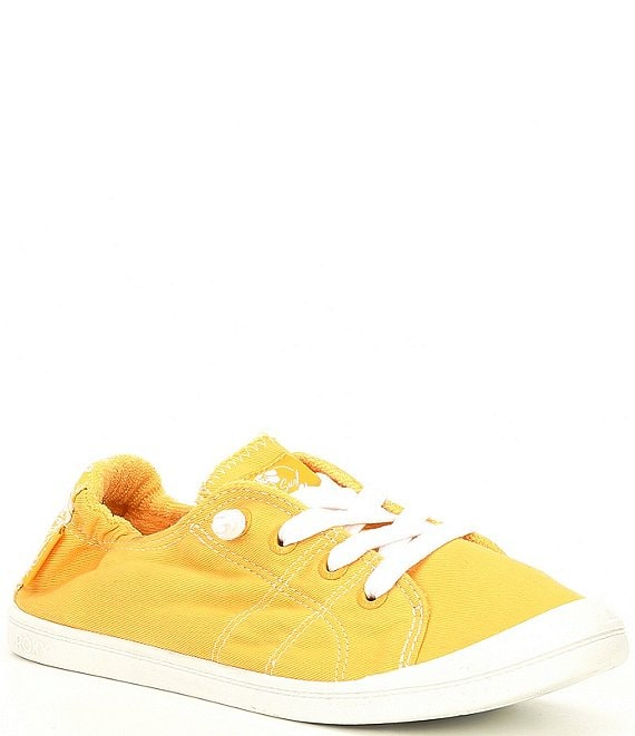 Color:Yellow - Image 1 - Bayshore III Canvas Slip On Sneakers