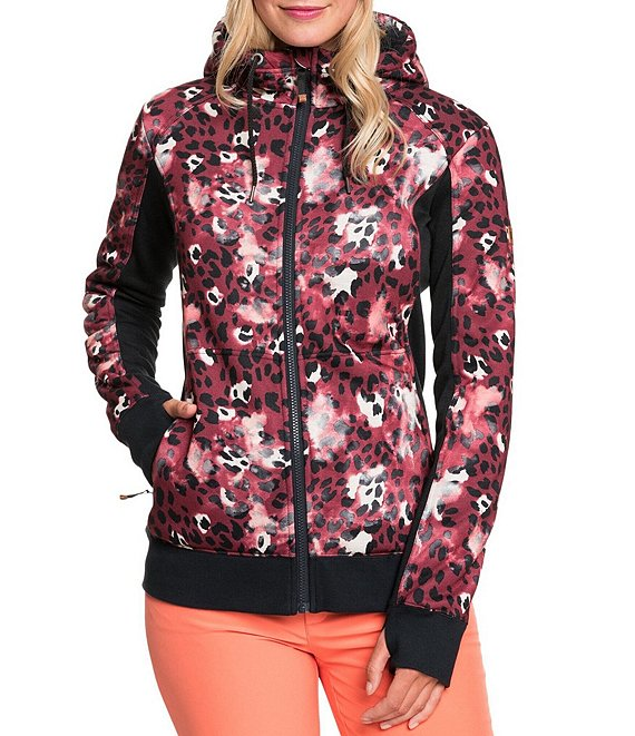Color:Oxblood Red Leopold - Image 1 - Frost Leopard-Printed Snow Hooded Jacket