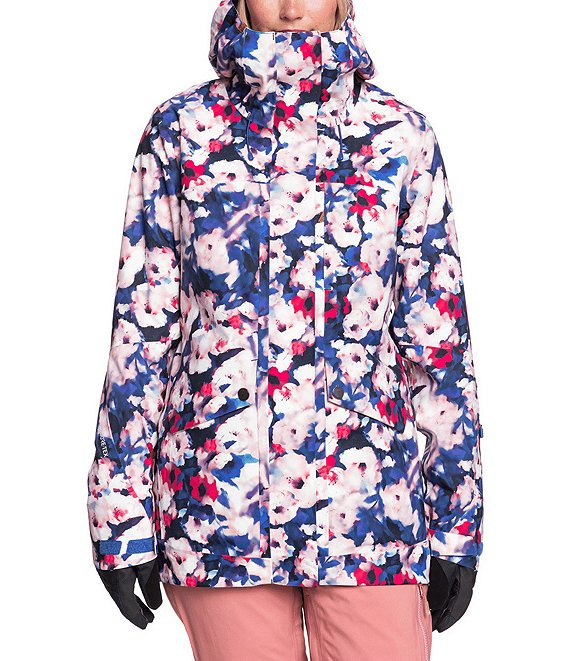 Color:Mazarine Blue Mind Jingle - Image 1 - GORE-TEX® Glade Printed Snow Jacket