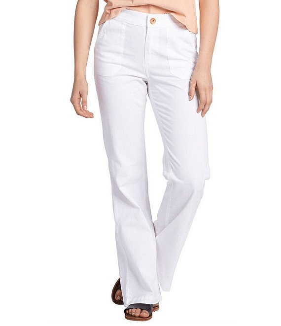 Color:Sea Salt - Image 1 - Oceanside High-Waisted Pants