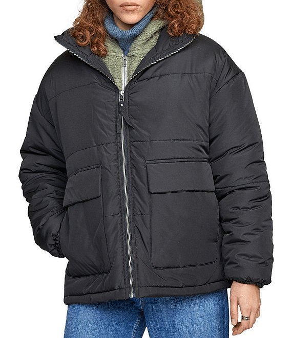 Color:Black - Image 1 - Mammoth Long-Sleeve Puffer Jacket