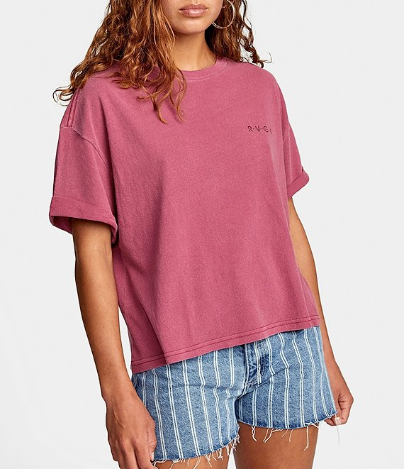 Color:Plum Berry - Image 1 - Merge Short-Sleeve Jersey Tee