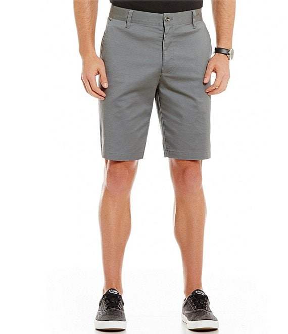 Color:Smoke - Image 1 - Weekend Stretch 10#double; Inseam Shorts