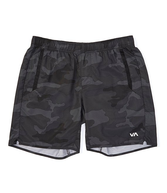 Color:Camo - Image 1 - Yogger lV Elastic Pull-On 17#double; Outseam Camo Athletic Shorts