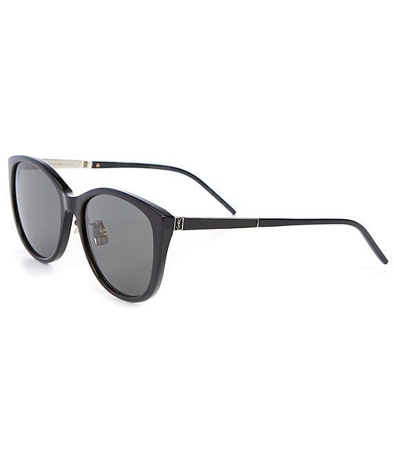 Color:Black - Image 1 - Round 56mm Sunglasses