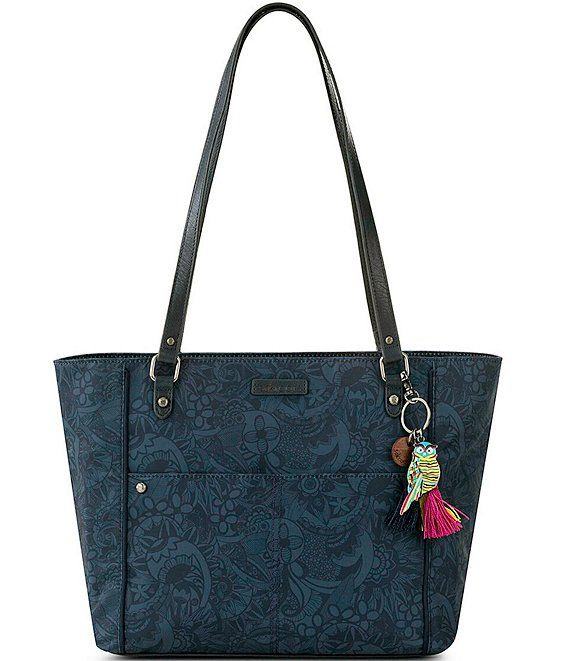 Color:Indigo Spirit Desert - Image 1 - Medium Paisley Print Nylon Tote Bag