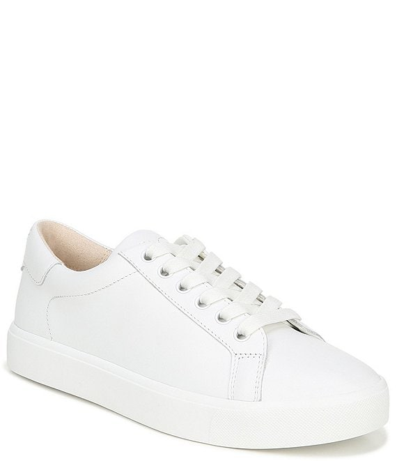 Color:Bright White - Image 1 - Ethyl Leather Lace-Up Sneakers
