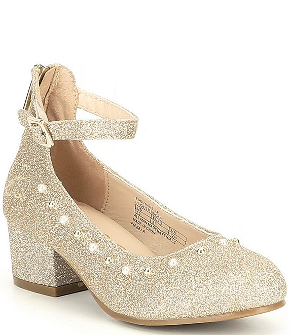 Sam Edelman Girls' Evelyn Sugar Glitter Belle Dress Shoe