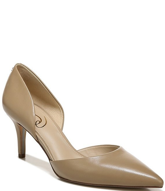 Color:Classic Nude - Image 1 - Jaina d'Orsay Leather Pumps
