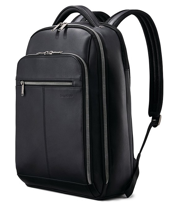 Samsonite Classic Full Size Deluxe Leather Backpack