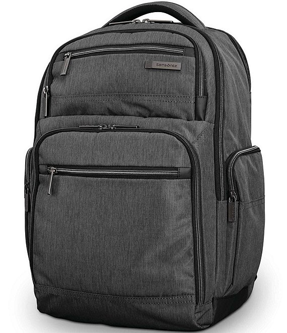 Color:Charcoal Heather - Image 1 - Modern Utility Double Shot Backpack