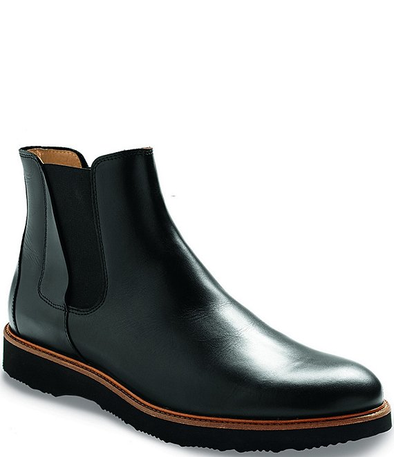 Color:Black - Image 1 - Men's 24 Seven Leather Chelsea Boots