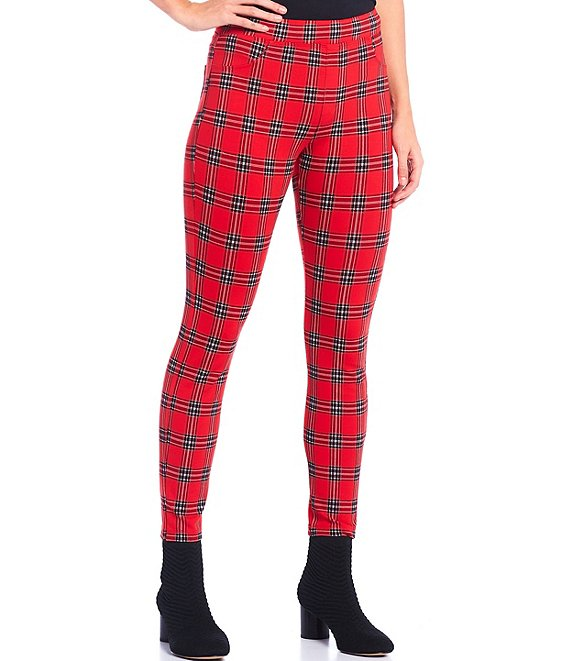 Color:Cambridge - Image 1 - Runway Plaid Leggings