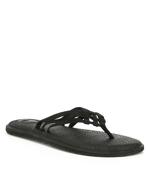 Color:Black - Image 1 - Women's Yoga Salty Flip Flop Sandals