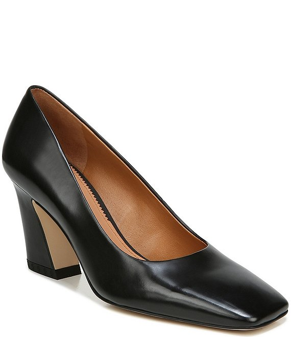 Color:Black - Image 1 - Sarto by Franco Sarto Graciana Leather Square Toe Pumps