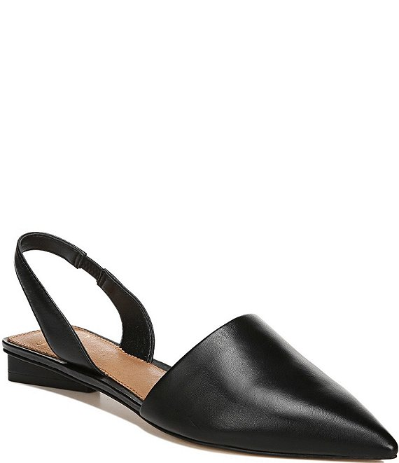 Color:Black - Image 1 - Sarto by Franco Sarto Graydon Leather Pointed Toe Slingbacks