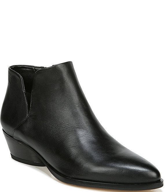 Color:Black - Image 1 - Sarto by Franco Sarto Shellson Leather Ankle Booties