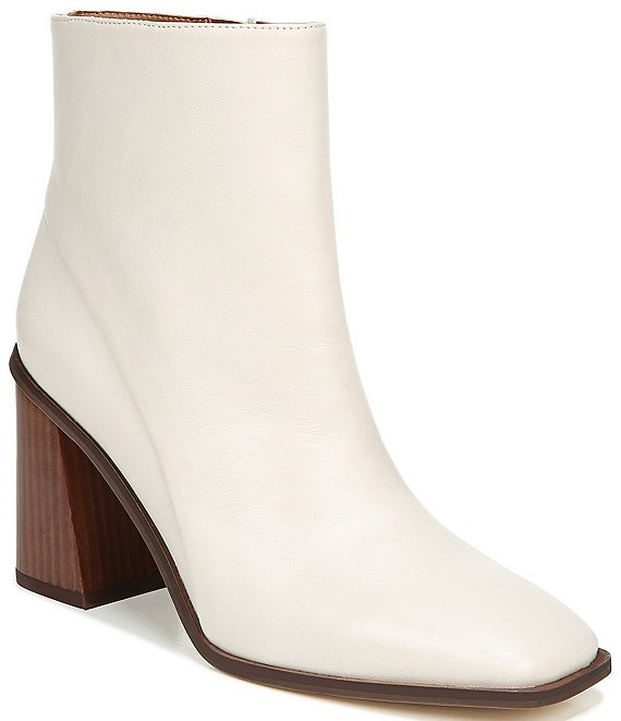 Color:Putty - Image 1 - Sarto by Franco Sarto Vallah Leather Block Heel Booties
