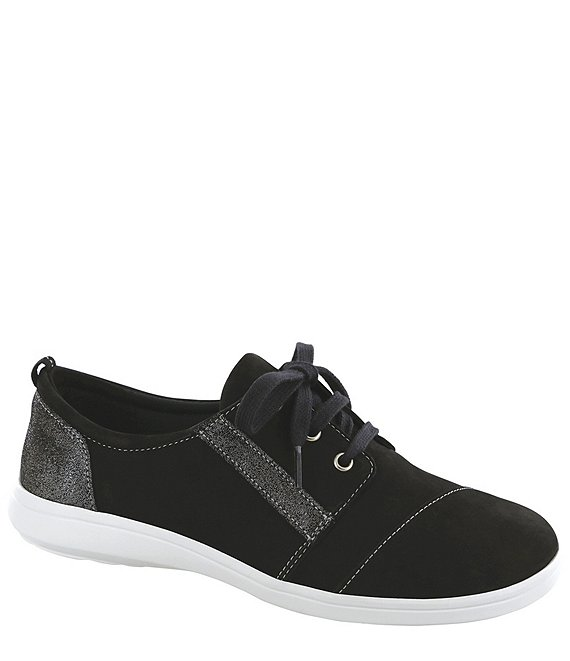 Color:Black/Sparkle - Image 1 - Marnie Suede & Leather Sneakers