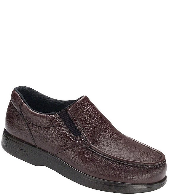 Color:Cordovan - Image 1 - Men's Side Gore Slip-On Loafers