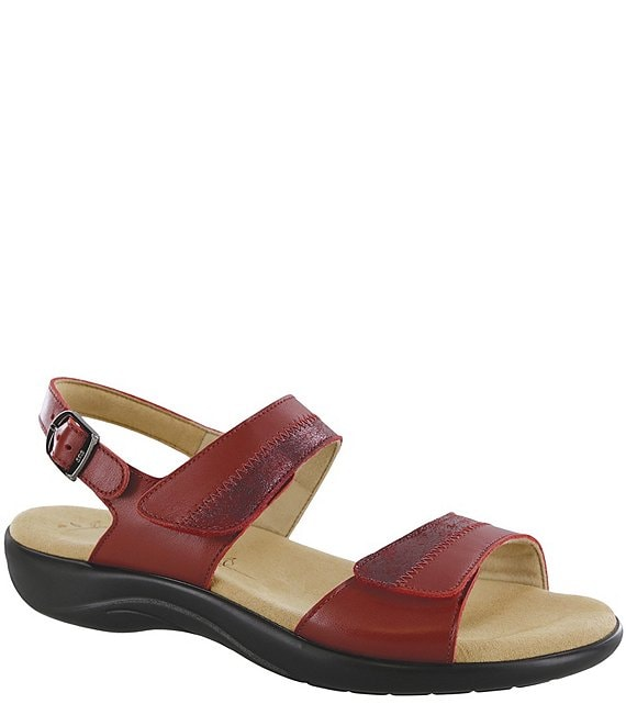 Color:Ruby/Cabernet - Image 1 - Nudu Leather Sandals