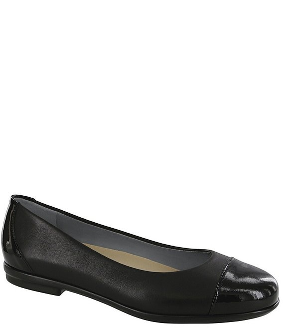 SAS Scenic Leather Cap Toe Ballet Flats