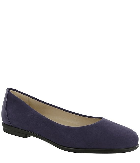 Color:Cosmic Blue - Image 1 - Scenic Suede Leather Slip Ons