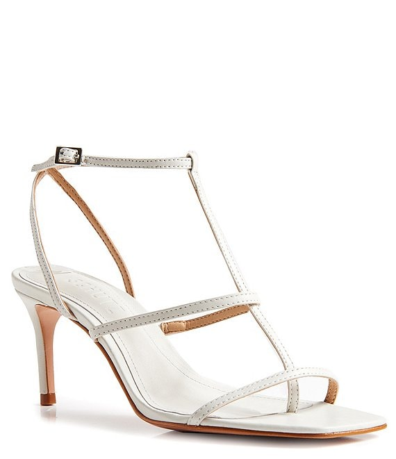 Color:Pearl - Image 1 - Ameena Leather Thong Dress Sandals