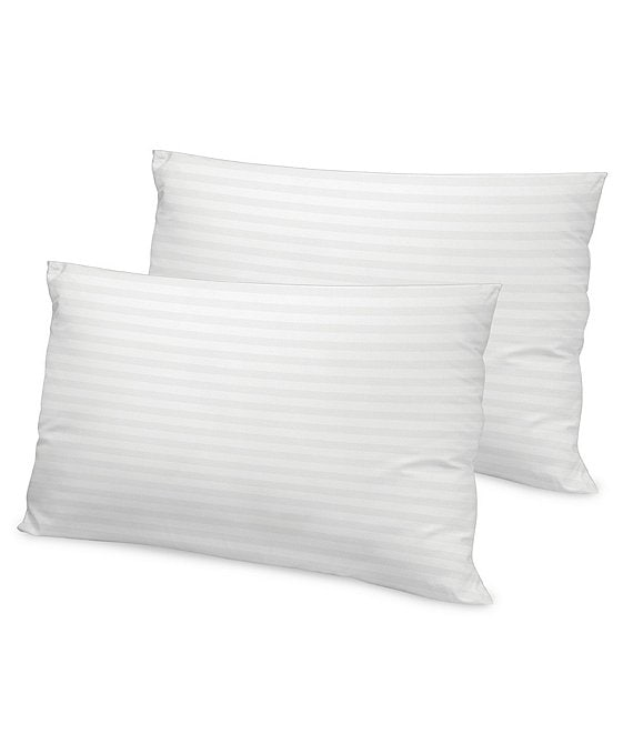 Color:White - Image 1 - 500-Thread-Count Tencel Bed Pillows, Set of 2