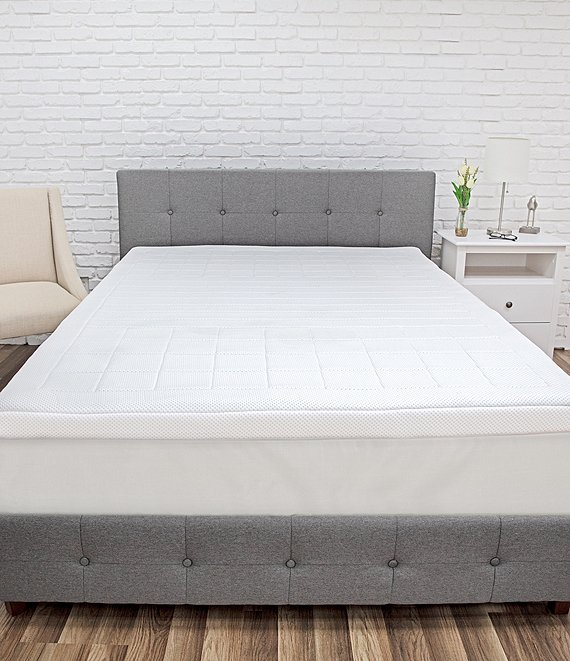 Color:White - Image 1 - Euro Majestic 3Zone Quilted Memory Foam 3#double; Bed Topper