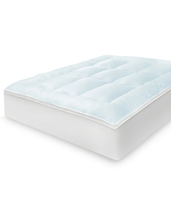 Color:White - Image 1 - Memory Cloud 3.5#double; Gel-Infused Memory Foam & Fiber Mattress Topper