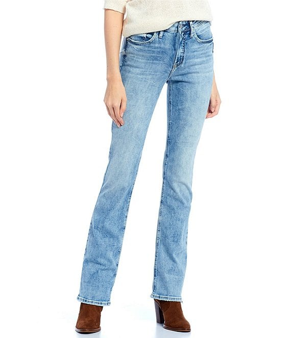 Color:Indigo - Image 1 - Avery High Rise Slim Bootcut Jeans